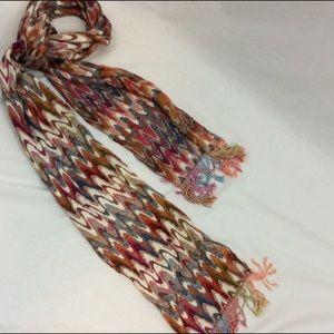 Accessories - ❤️3/$15 Long Wide Flame Stitch Multi-colored Scarf